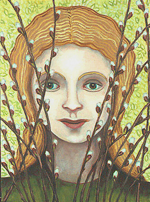 Girl in the Catkins
