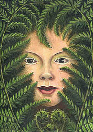 Girl in the Ferns