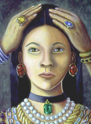 Girl with many Jewels