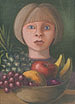 Girl with Bowl of Fruit