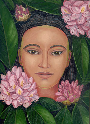 Woman in the Rhododendrons