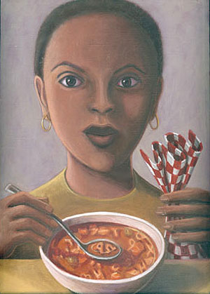 Girl with Alphabet Soup